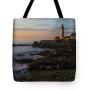 Portland Head Lighthouse At Dawn Tote Bag