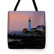 Portland Head Lighthouse At Daybreak Tote Bag