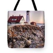 Portland Head Lighthouse Cape Elizabeth Maine Tote Bag
