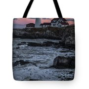 Portland Head Lighthouse Sunset Tote Bag
