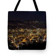 Portland Oregon Downtown Cityscape At Night Tote Bag