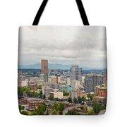 Portland Oregon Downtown View Panorama Tote Bag
