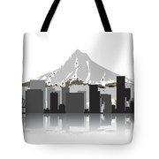 Portland Oregon Skyline 2 Tote Bag by Daniel Hagerman
