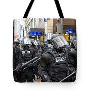 Portland Police In Riot Gear Tote Bag