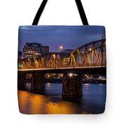 Portland Skyline And Hawthorne Bridge Tote Bag