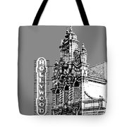 Portland Skyline Hollywood Theater - Pewter Tote Bag