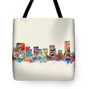 Portland Skyline Oregon Tote Bag