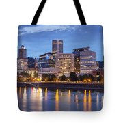 Portland Skyline Pm2 Tote Bag