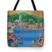 Portofino, Italy, 2012 Acrylic On Canvas Tote Bag
