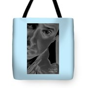 Portrait Figurative Study Piece Of Bobby As Solarised Tote Bag