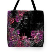 Portrait In Black - S01-02b Tote Bag by Variance Collections