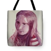 Portrait In Burgundy  Tote Bag