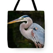 Portrait Of A Blue Heron Tote Bag