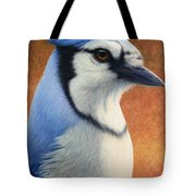 Portrait Of A Bluejay Tote Bag