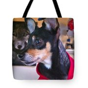 Portrait Of A Dog Tote Bag