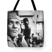 Portrait Of A Face In The Crowd Tote Bag