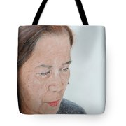 Portrait Of A Filipina In Thought  Tote Bag by Jim Fitzpatrick