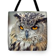 Portrait Of A Great Horned Owl II Tote Bag