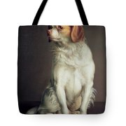 Portrait Of A King Charles Spaniel Tote Bag