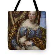 Portrait Of A Lady As Saint Agnes Tote Bag