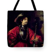 Portrait Of A Man In Military Costume Tote Bag