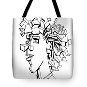 Portrait Of A Man Tote Bag by Michelle Calkins