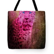 Portrait Of A Pink Leopard Tote Bag