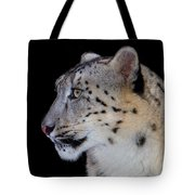 Portrait Of A Snow Leopard Tote Bag