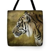 Portrait Of A Tiger  Tote Bag