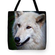 Portrait Of A White Wolf Tote Bag