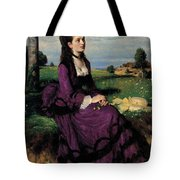 Portrait Of A Woman In Lilac Tote Bag