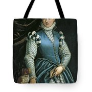 Portrait Of A Woman With A Dog Tote Bag