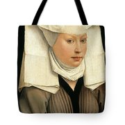 Portrait Of A Woman With A Winged Bonnet Tote Bag