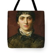 Portrait Of A Woman With Dark Hair Tote Bag