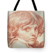 Portrait Of A Young Boy Tote Bag