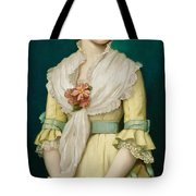 Portrait Of A Young Girl Tote Bag by George Chickering Munzig