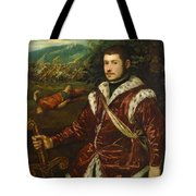 Portrait Of A Young Man As David Tote Bag