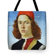 Portrait Of A Young Man Ghirlandaio Tote Bag