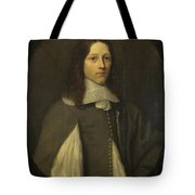 Portrait Of A Young Man In Grey Tote Bag