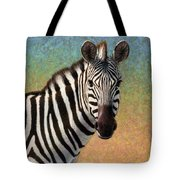 Portrait Of A Zebra - Square Tote Bag