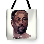 Watercolor Portrait Of An Athlete Tote Bag