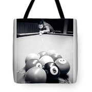 Portrait Of An Awesome Pool Player Tote Bag