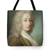 Portrait Of Antoine Watteau 1684-1721 Pastel On Paper Tote Bag