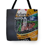 Portrait Of Ayrton Senna Tote Bag
