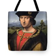 Portrait Of Charles Damboise 1471-1511 Marshal Of France Oil On Panel Tote Bag