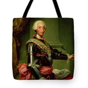 Portrait Of Charles IIi 1716-88 C.1761 Oil On Canvas Tote Bag