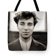 Portrait Of Charlie Chaplain Tote Bag