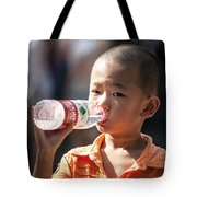 Portrait Of Chinese Child In Xian China Tote Bag