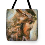 Portrait Of Christ Tote Bag