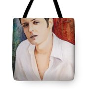 Portrait Of Dustin Roadcap 2014 Tote Bag